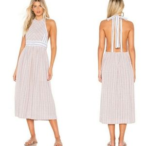 Free People Pink Color Theory Midi Dress
